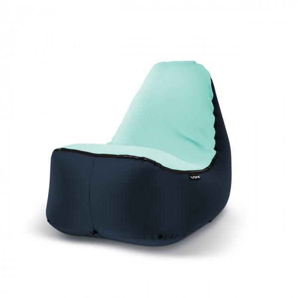 Sitzsack Outdoor dunkelblau helltürkis
