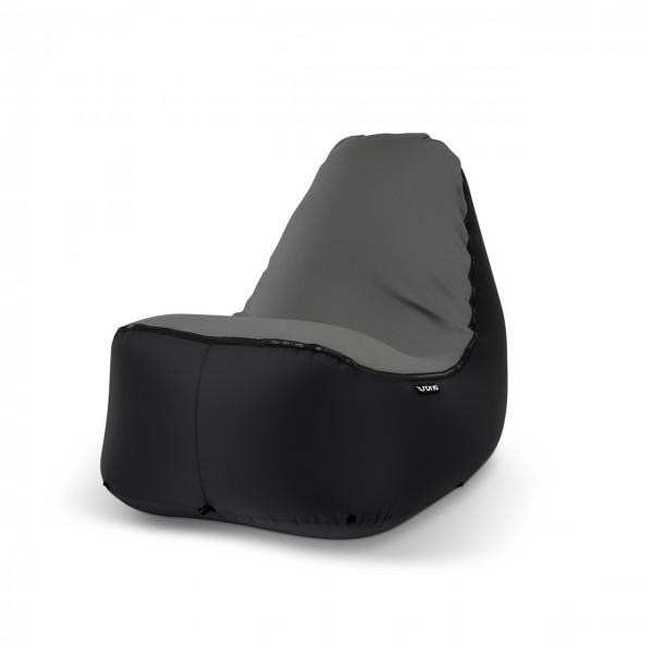 Sitzsack Outdoor schwarz grau